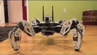 "ROS Hexapod ""Golem"" - IMU body auto leveling (speech enabled)"