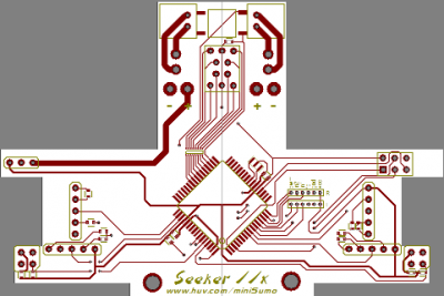 Seeker 2x - Circuit Board (top layer) by JonHylands in Member Galleries