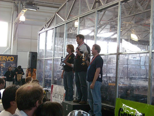 Mecha Kong Getting The Silver In The Biped Race. by Droid Works in RoboGames 2008