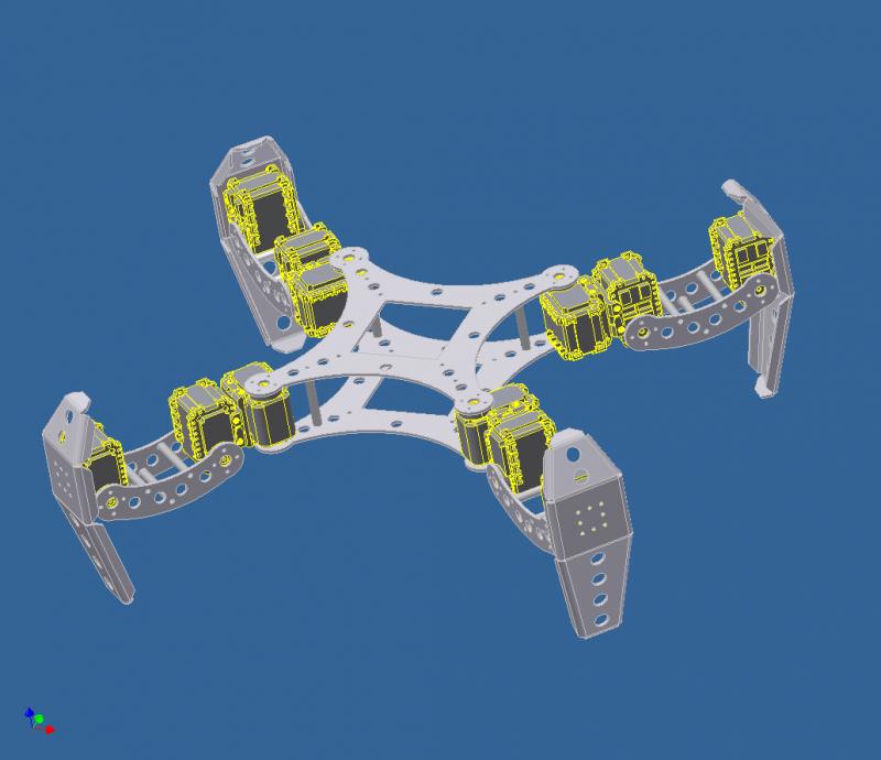 Ax-12 Based Quad by DresnerRobotics in Member Galleries