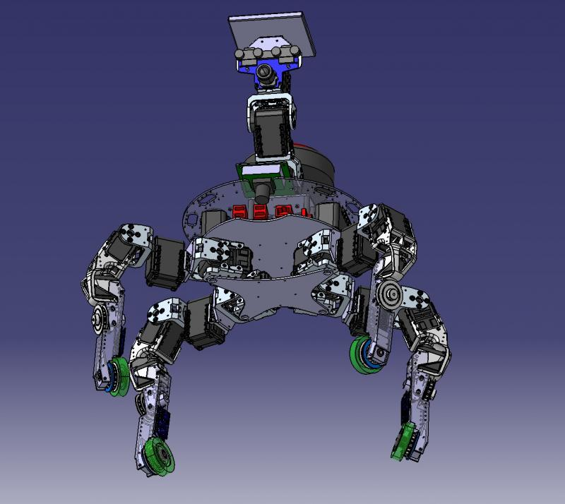 Xachikoma - Bioloid-based, Cad Model by Xevel in Member Galleries